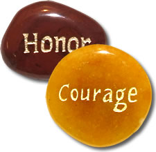 Military and Veteran Support Pocket Stones image